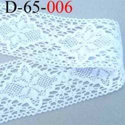 dentelle crochet ancienne 100% coton largeur 65 mm couleur blanc provient d'une  mercerie parisienne prix au mètre