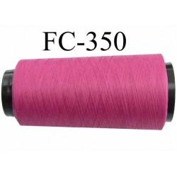 Cone  bobine de fil mousse texturé polyester fil n°120 couleur fushia  longueur 2000 mètres bobiné en France