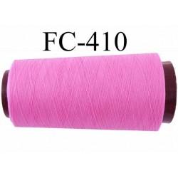 CONE de fil mousse Polyester texturé fil n° 120 couleur rose longueur de 2000 mètres bobiné en France