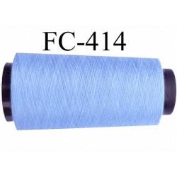 Cône de fil polyester fil n°120 couleur bleu longueur du cone 5000 mètres bobiné en France