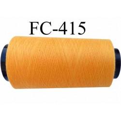 Cone de fil polyester fil n°120 couleur orange clair longueur du cone 1000 mètres bobiné en France