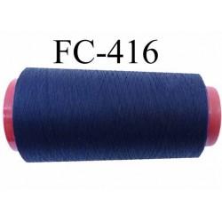 cone de fil polyester fil n°80 couleur bleu marine longueur du cone 2000 mètres bobiné en France