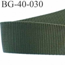 sangle galon a plat syntéthique couleur vert kaky superbe très très solide largeur 4 cm épaisseur 1.6 mm   prix au mètre