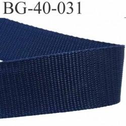 sangle galon a plat syntéthique couleur bleu marine superbe très très solide largeur 4 cm épaisseur 1.6 mm   prix au mètre