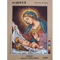 canevas 30X40 marque MARGOT CREATION DE PARIS thème vierge  dimension 30 centimètres par 40 centimètres 100 % coton