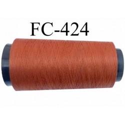 Cone de fil mousse texturé polyester fil n°120 couleur marron longueur du cone 2000 mètres bobiné en France