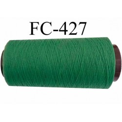 Cone de fil mousse texturé polyester fil n°160 couleur ver longueur du cone 5000 mètres bobiné en France