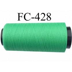 Cone de fil mousse texturé polyester fil n°160 couleur ver longueur du cone 2000 mètres bobiné en France