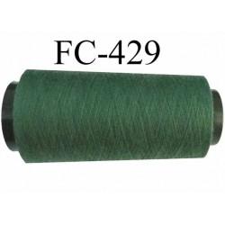 Cone de fil polyester fil n°120 couleur vert longueur du cone 2000 mètres bobiné en France