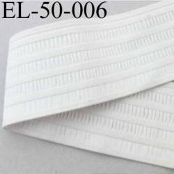 élastique plat fronceur ou à froncer ou à smock largeur 50 mm couleur naturel prix au mètre