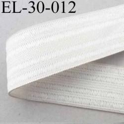 élastique plat fronceur ou à smock largeur 30 mm couleur naturel  prix au mètre