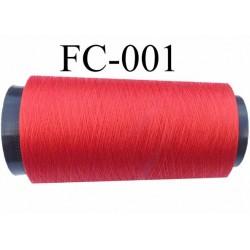 Cone de fil  polyester et soie continu fil n° 70/2 pour coudre ou broder couleur rouge vif longueur 5000 mètres bobiné en france