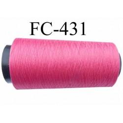 CONE de fil mousse polyamide fil n° 100 / 2 couleur framboise  longueur de 1000 mètres bobiné en France
