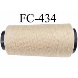 cone de fil mousse polyamide fil n° 180 couleur beige crème sable longueur du cone 5000 mètres bobiné en France