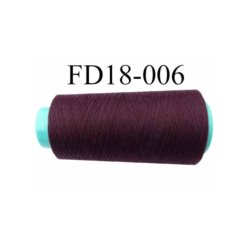 Cone ( en Destockage ) de fil polyester fil n°35 couleur bordeau