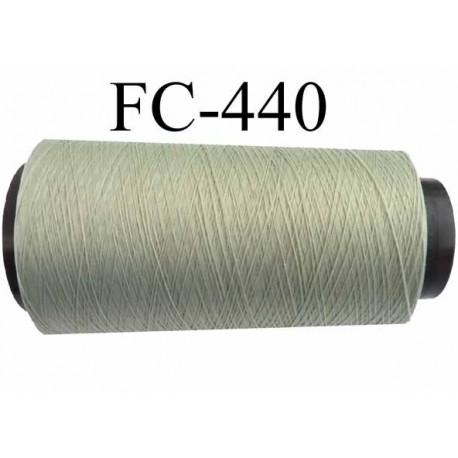 CONE de fil mousse polyamide fil n° 100 / 2 couleur vert  longueur de 1000 mètres bobiné en France