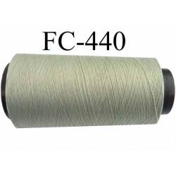 CONE de fil mousse polyamide fil n° 100 / 2 couleur vert  longueur de 2000 mètres bobiné en France