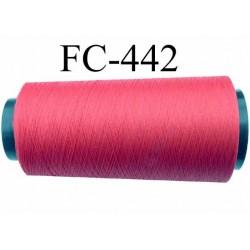 Cone de fil mousse  polyester texturé fil n° 165 couleur rouge  tirant sur le bordeau longueur 1000 mètres bobiné en France