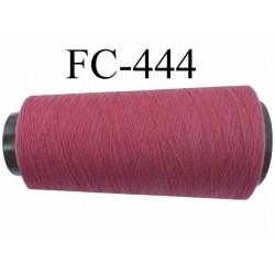 Cone de fil mousse  polyester texturé fil n° 165 couleur lie de vin clair longueur 1000 mètres bobiné en France
