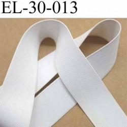 élastique plat très belle qualité couleur blanc plus epais que la ref EL-30-001 largeur 30 mm prix au mètre