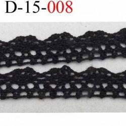 dentelle crochet en coton largeur 15 mm couleur noir provient d'une ancienne mercerie parisienne prix au mètre