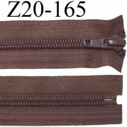 fermeture zip à glissière  longueur 20 cm couleur marron non séparable zip nylon largeur 3,2 cm largeur du zip 6.5 mm